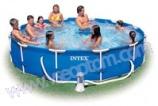 круглый бассейн INTEX (Интекс) с металлокаркасом